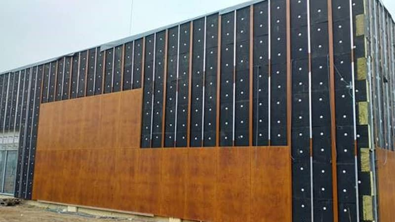 rainscreen cladding construction